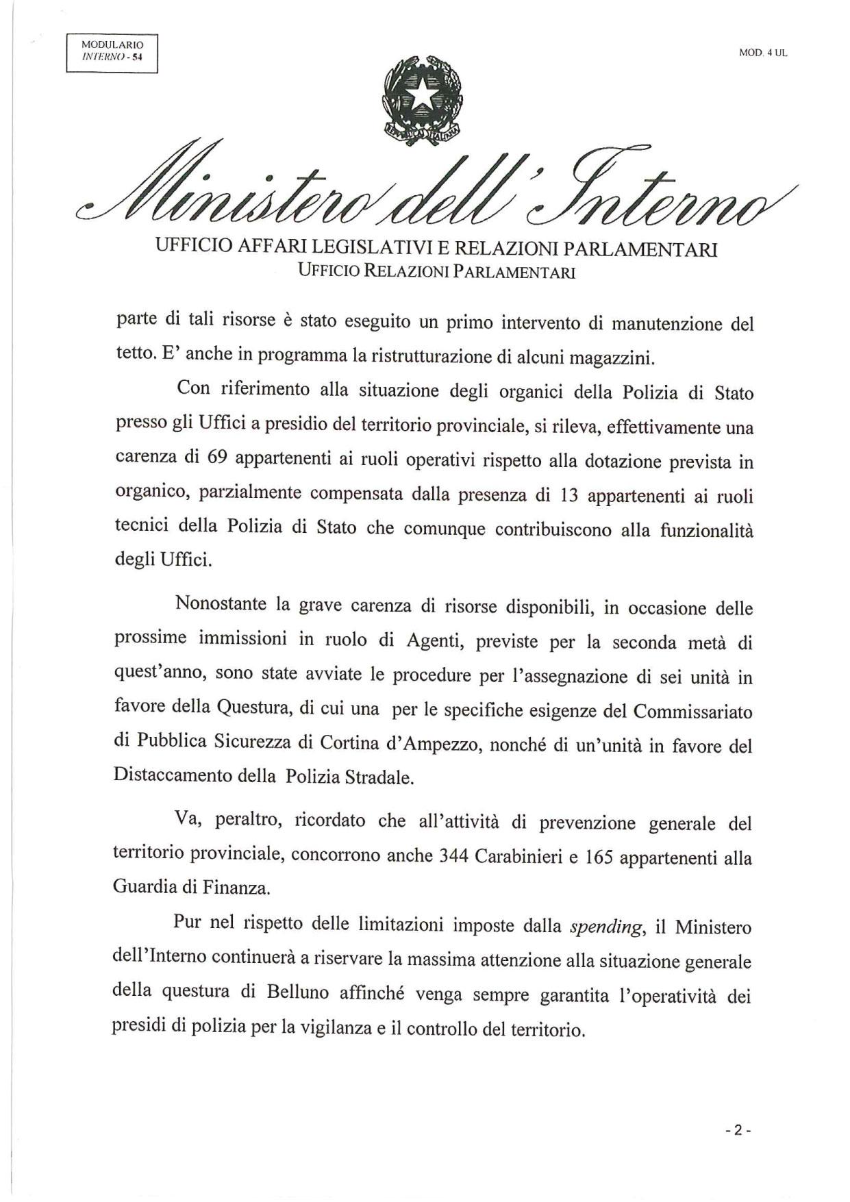 Risposta-MINISTERO-DELL'INTERNO-_-Caserma-Fantuzzi-2